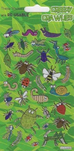 Creepy Crawlies Theme Stickers